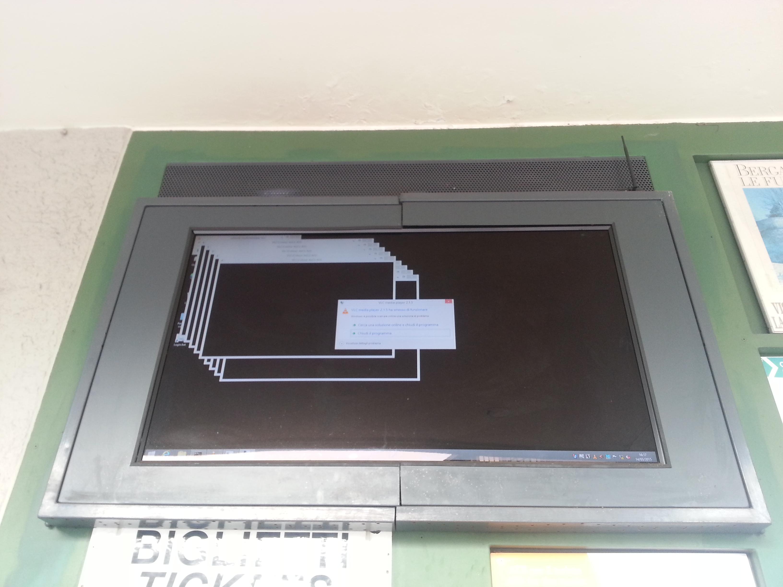 VLC on Windows. Bergamo, March 2015.