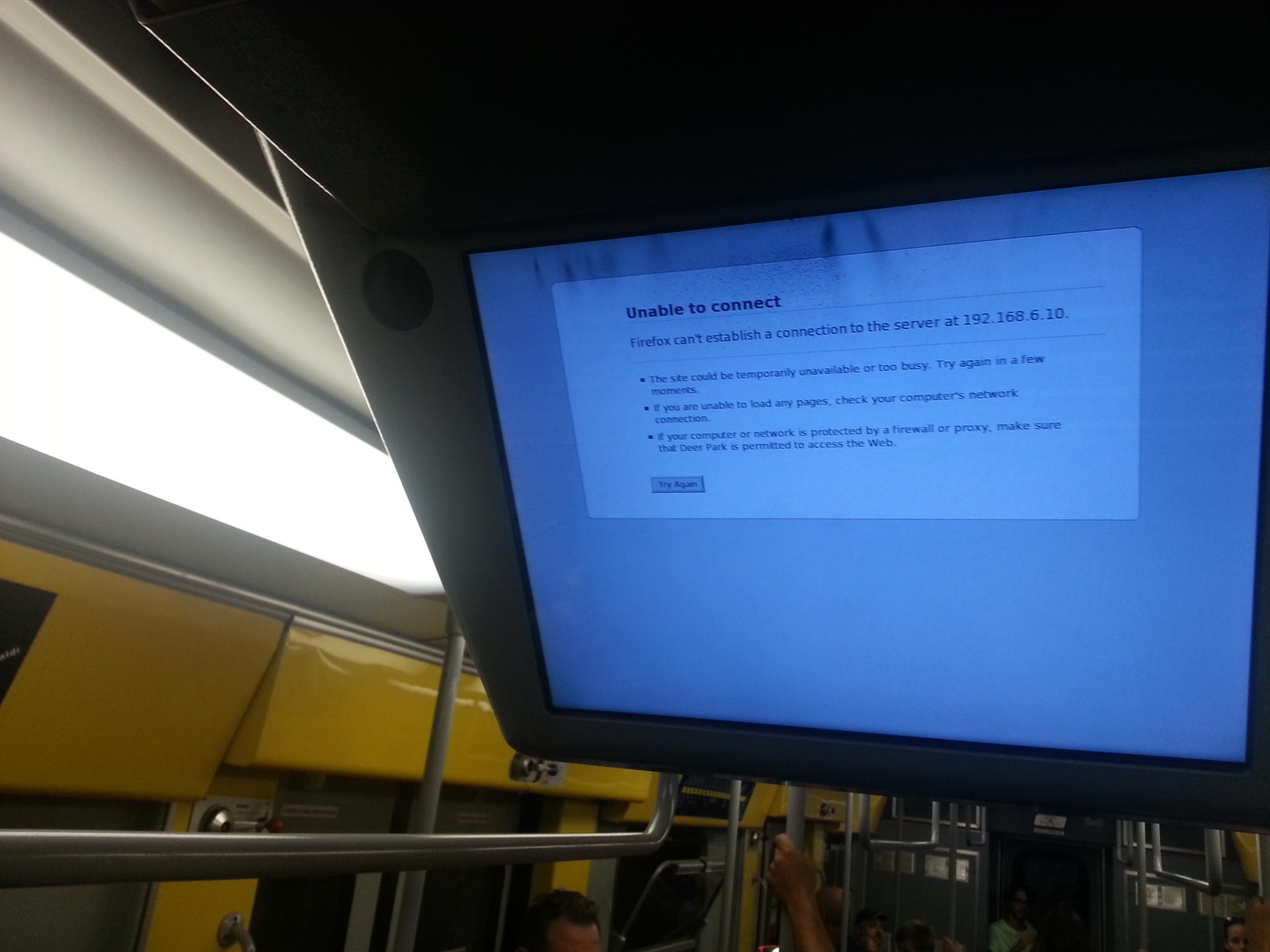 Firefox on Naple's underground. August 2016.